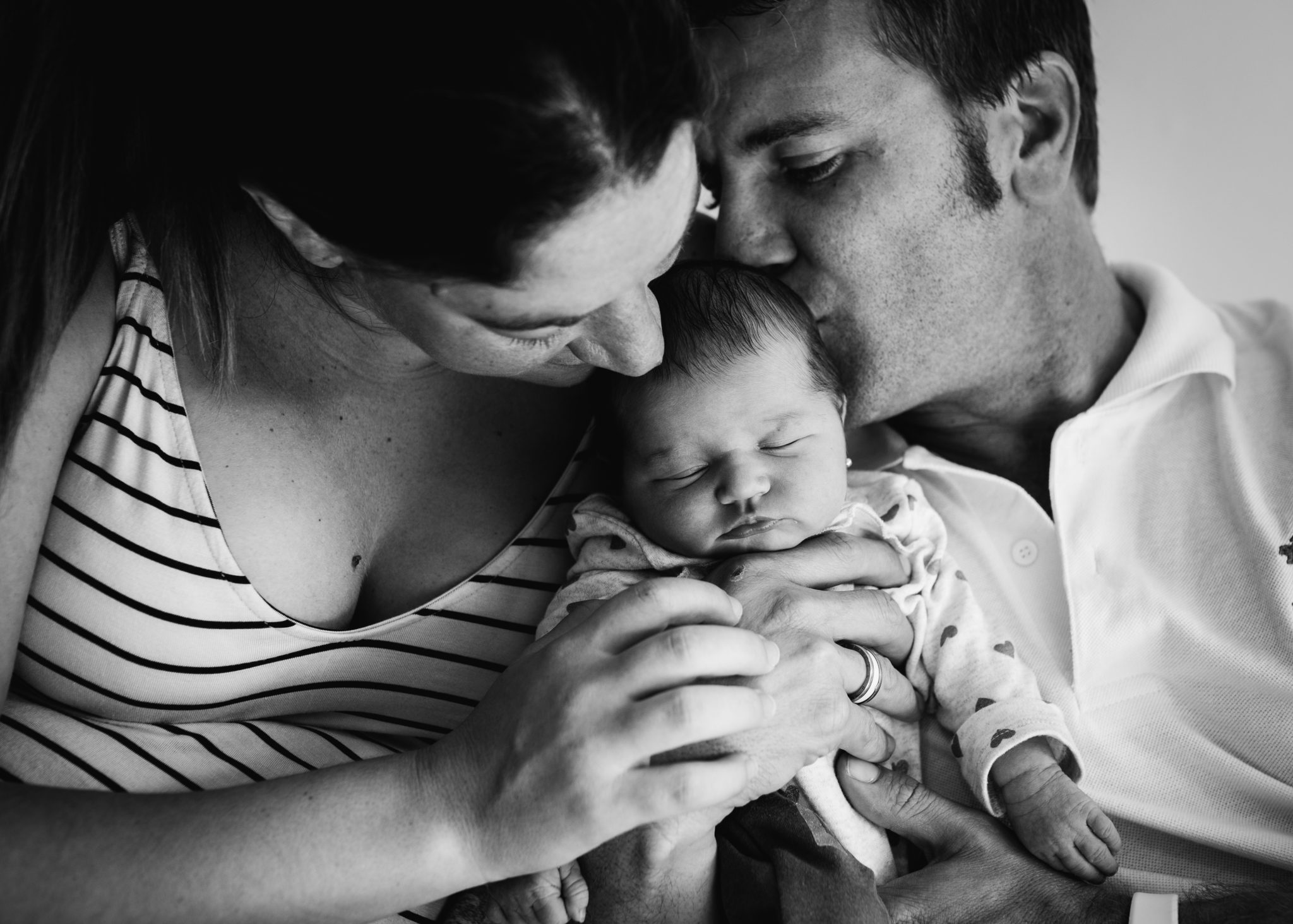 Family portrait during a newborn session.